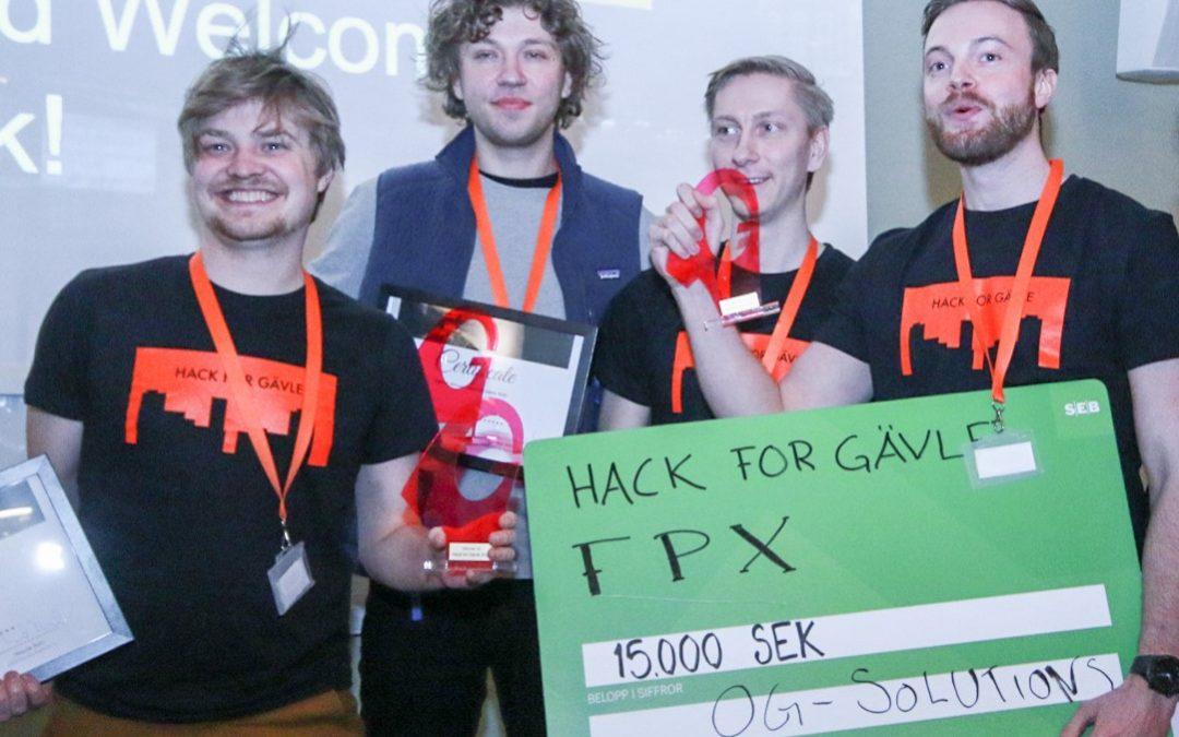 Vinnarna av hack for Gävle