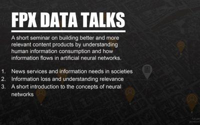 FPX Talk: Bättre innehållsprodukter genom artificiella neurala nätverk