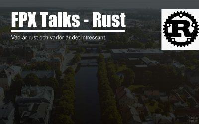 FPX Talk: Programmeringsspråket RUST