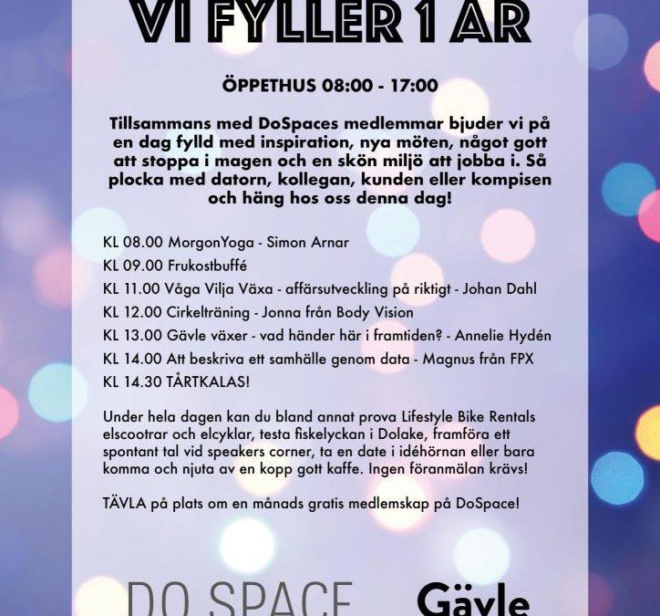 Hubben firar ett år! – Gävle Innovation Hub