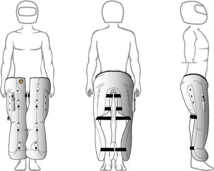Airbagjeans ska minska skador vid MC-olyckor
